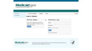 Medicaid - Login or Register