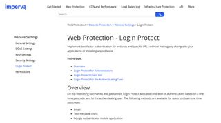 Web Protection - Login Protect