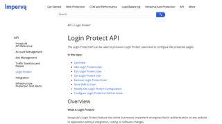 Login Protect API
