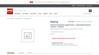 Imperva Incapsula Login Protect - subscription license (1 year) - 1 ...