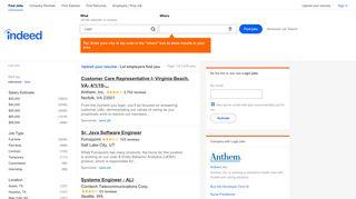 Login Jobs, Employment | Indeed.com