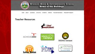 Teacher Resources - Waialua High & Intermediate School