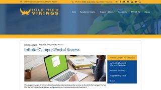Infinite Campus Portal Access - - Hilo High School