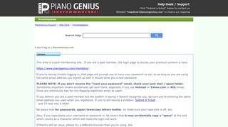 I can't log in | PianoGenius.com