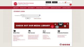 Student Login - - Canadian Securities Institute