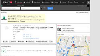 Intesa Sanpaolo Private Bank (Suisse) SA - search.ch