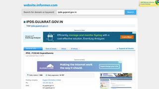 ipds.gujarat.gov.in at WI. iPDS - FCSCAD GujaratGamma