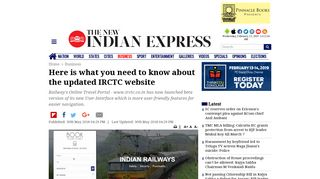 Here is what you need to know about the updated IRCTC website- The ...