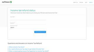 Income Tax Refund Status - myITreturn - myITreturn.com
