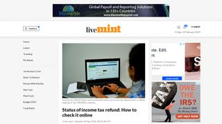 Status of income tax refund: How to check it online - Livemint