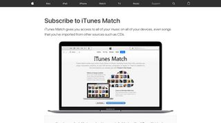 Subscribe to iTunes Match - Apple Support