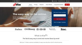Fax Online with eFax - The World's #1 Online Fax Service