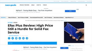 Efax Plus Review: Faxing Service's Price Is Too High - Tom's Guide