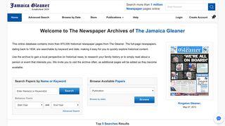 The Jamaica Gleaner – NewspaperARCHIVE.com