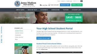 JMHS Student Portal - James Madison High School