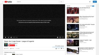Slayer Jinx | Login Screen - League of Legends - YouTube