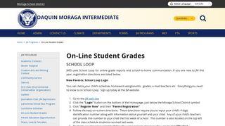 On-Line Student Grades - Joaquin Moraga Intermediate School