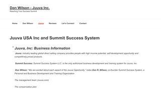 Juuva Summit Success - Don Wilson Nancy Wilson