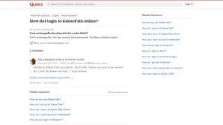 How to login to KakaoTalk online - Quora