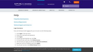 Kaplan IT Training Login Help - Username and Password Recovery