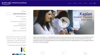 Financial Education – Kaplan Professional Education