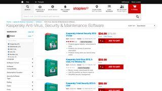 Kaspersky Anti-Virus, Security & Maintenance Software   Staples