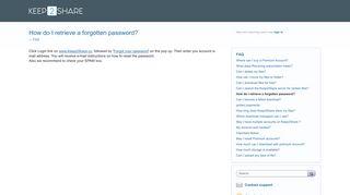 How do I retrieve a forgotten password? – Customer Feedback for ...