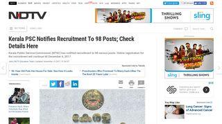 KPSC Recruitment To 98 Posts @ keralapsc.gov.in, thulasi.psc.kerala ...