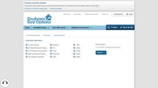 see property search page - Find your new home - Durham Key Options