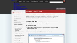 Windows 7: Sticky Keys | Disability Resources & Educational Services ...