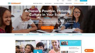 Kickboard: EdTech Leader in PBIS & Classroom Behavior Solutions ...