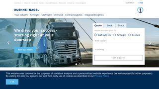 Kuehne + Nagel: Homepage