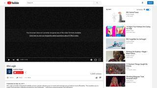 KN Login - YouTube