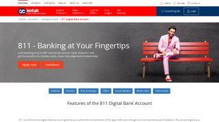 811 Digital Bank Account - Kotak Mahindra Bank
