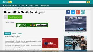 Kotak - 811 & Mobile Banking 4.4.2 Free Download