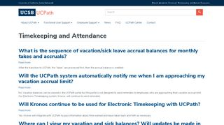 Timekeeping and Attendance | UCSB UCPath