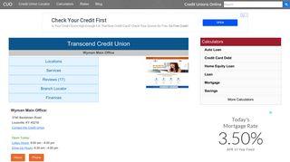 Transcend Credit Union - Louisville, KY - Credit Unions Online