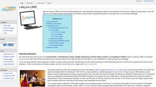 LabLynx LIMS - LabLynx Wiki