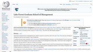 Lake Forest Graduate School of Management - Wikipedia