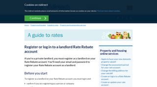 Register or log in to a landlord Rate Rebate account | nidirect