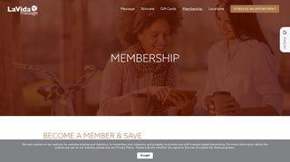 Membership - LaVida Massage