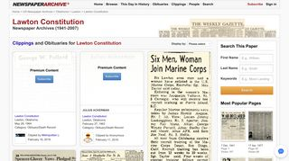 Lawton Constitution Newspaper Archives | NewspaperArchive®
