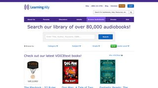 Browse Audiobooks | LearningAlly.org