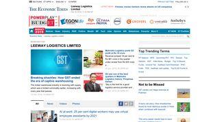 Leeway Logistics Limited: Latest News & Videos, Photos about ...