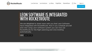 Leon Software is integrated with RocketRoute | RocketRoute