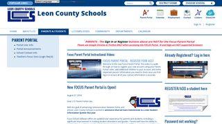 Parent Portal / Portal User Info - Leon County Schools