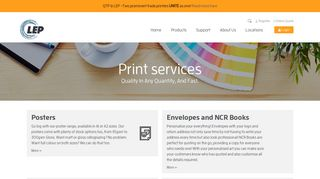 Print Services – LEP Colour Printers