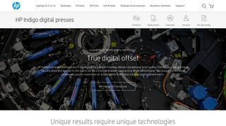 HP Indigo digital presses – liquid electrophotography technology | HP ...