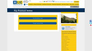 Life Insurance Corporation of India - Pay Premium Online - LIC of India