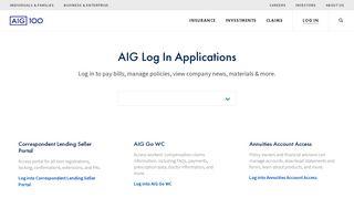 Log in - AIG